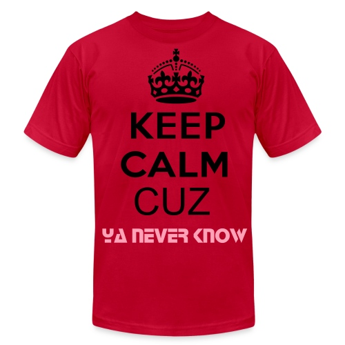 Keep calm cuz ya never know - Men's Fine Jersey T-Shirt