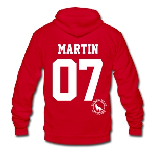 MARTIN 07 - Zip-up (S Logo) - Unisex Fleece Zip Hoodie by American Apparel