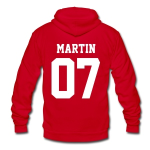 MARTIN 07 - Zip-up (S Logo, NBL) - Unisex Fleece Zip Hoodie by American Apparel