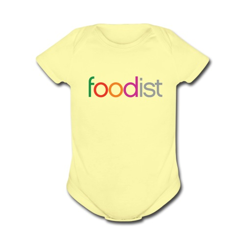 Baby Yellow   - Organic Short Sleeve Baby Bodysuit