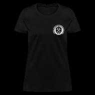 T-Shirts ~ Women's T-Shirt ~ Women's Ore Cart Ghost Towns of Washington Logo T-Shirt