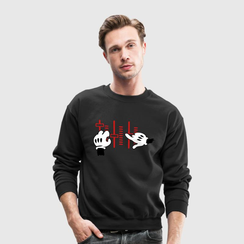 dj mickey hands Long Sleeve Shirts - Crewneck Sweatshirt
