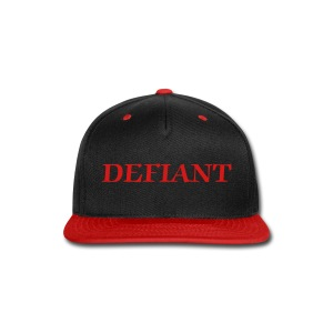 Blackand Red Defiant Snap-Back Hat - Snap-back Baseball Cap