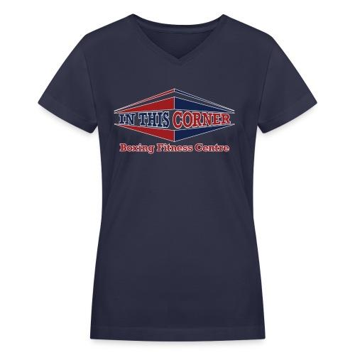 V-Neck with full color - Women's V-Neck T-Shirt