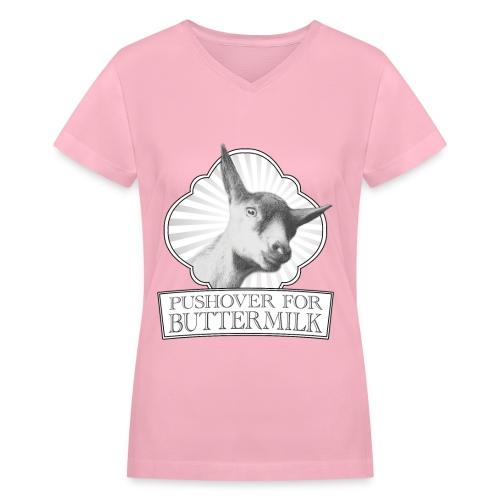 Pushover T-shirt for women - V-neck - Women's V-Neck T-Shirt