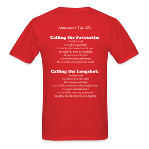 Thoroughbred Horse Racing - Announcer's Tips - Favourites & Longshots - Men's T-Shirt