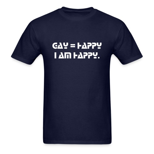Happy Gay Men - Men's T-Shirt