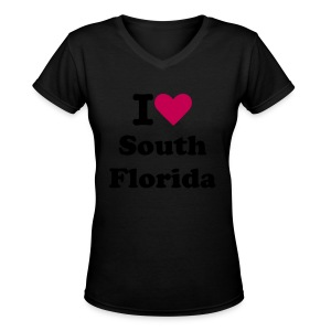 Dark V-Neck - Women's V-Neck T-Shirt