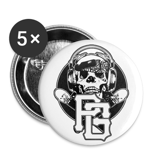 5 Pack Pirate Buttons - Buttons small 1'' (5-pack)