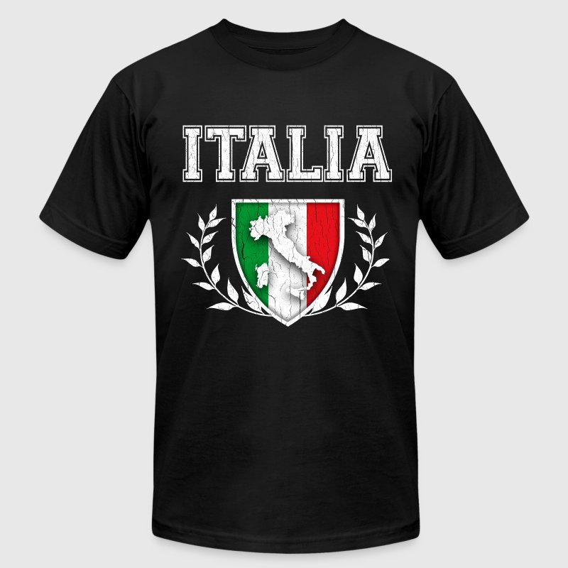 Vintage Italian Flag Crest - Men's T-Shirt by American Apparel
