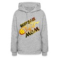 Softball Mom (flame) Hoodies