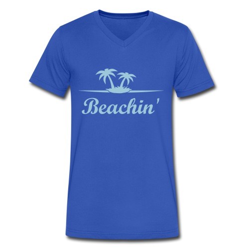 Men's V-Neck Beachin' Tee - Men's V-Neck T-Shirt by Canvas