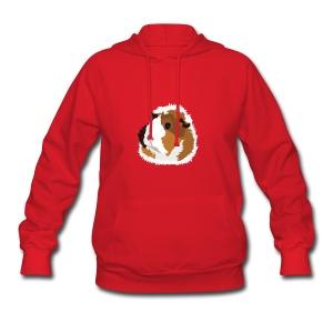Retro Guinea Pig 'Elsie' Ladies Sweatshirt (no text) - Women's Hoodie