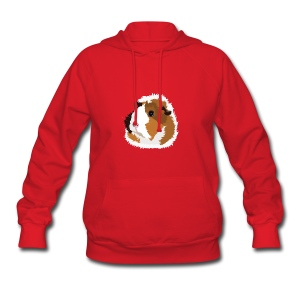 Retro Guinea Pig 'Elsie' Ladies Sweatshirt (no text) - Women's Hoodie