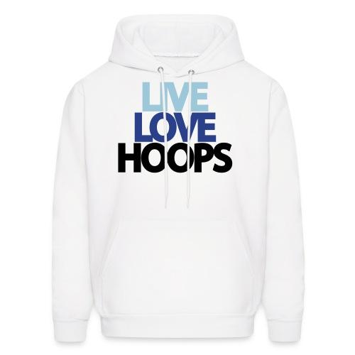 Live, Love, Hoops Hoodie - Men's Hoodie