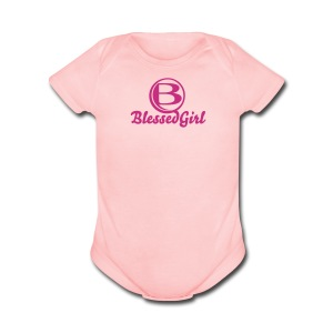 Blessed Baby Girl - Short Sleeve Baby Bodysuit