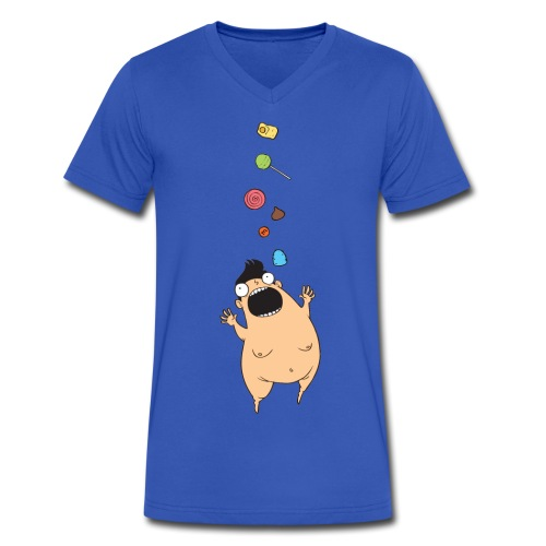 Little Fatty - Men's V-Neck T-Shirt by Canvas
