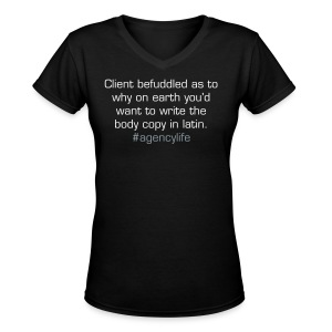 Client befuddled - Women's V-Neck T-Shirt