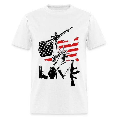 Anarchy x Love - Men's T-Shirt