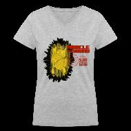 Women's T-Shirts ~ Women's V-Neck T-Shirt ~ New Black Gold Womens V - Neck