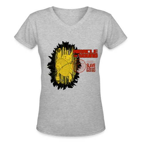 New Black Gold Womens V - Neck - Women's V-Neck T-Shirt