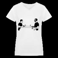 T-Shirts ~ Women's V-Neck T-Shirt ~ Animals table V-NECK (women)