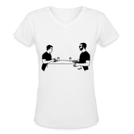 Women's T-Shirts ~ Women's V-Neck T-Shirt ~ Animals table V-NECK (women)