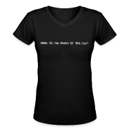 T-Shirts ~ Women's V-Neck T-Shirt ~ Animals Text V-NECK (women)