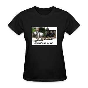 Jenny and Jake/Manure Happens v-neck ladies - Women's T-Shirt