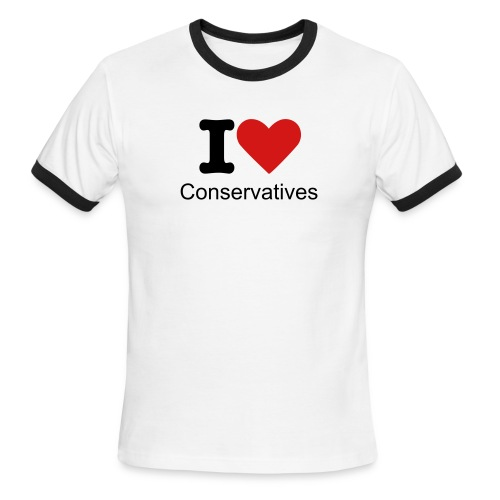 tshirt: I Love Conservatives - Men's Ringer T-Shirt