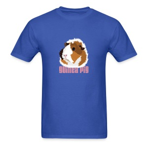 Retro Guinea Pig 'Elsie' Unisex T-Shirt (text) - Men's T-Shirt