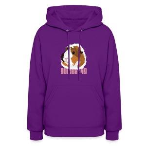 Retro Guinea Pig 'Elsie' Ladies Sweatshirt (text) - Women's Hoodie