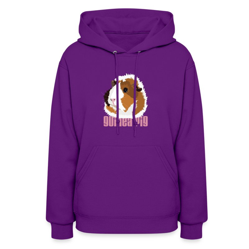 Retro Guinea Pig 'Elsie' Ladies Sweatshirt (text) - Women's Hoodie