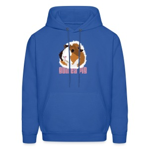 Retro Guinea Pig 'Elsie' Unisex Sweatshirt (text) - Men's Hoodie