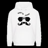 Hoodies ~ Men's Hoodie ~ respect the moustache