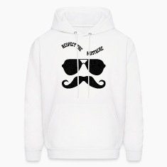 Respect The Moustache Hoodies
