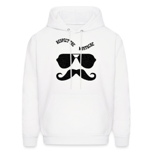 respect the moustache - Men's Hoodie