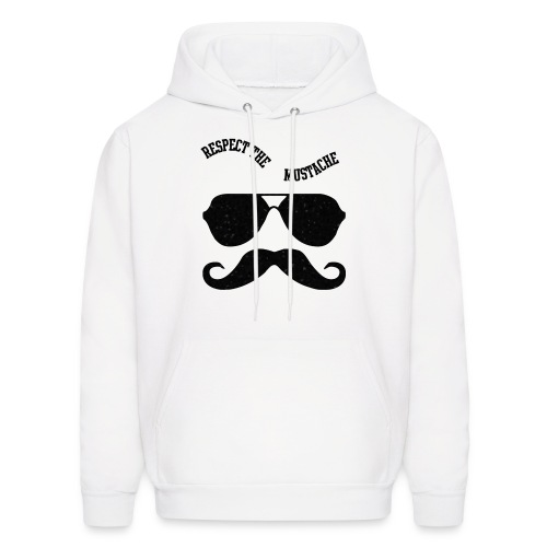 respect the moustache - Men's Hoodie