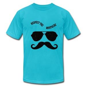 respect the moustache - Men's Fine Jersey T-Shirt