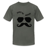 T-Shirts ~ Men's T-Shirt by American Apparel ~ respect the moustache