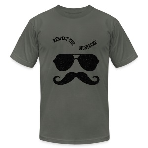 respect the moustache - Men's T-Shirt by American Apparel