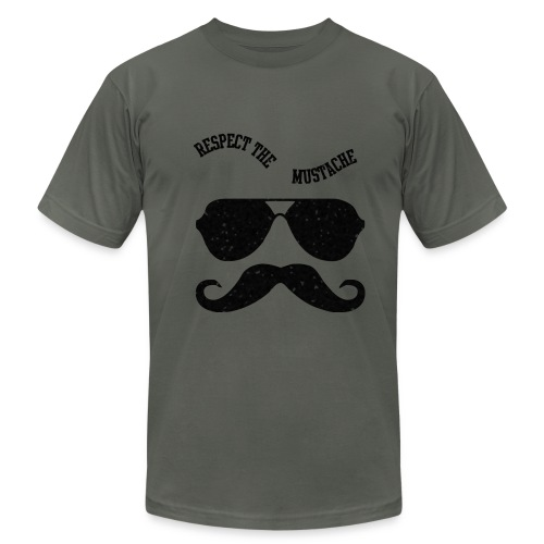respect the moustache - Men's Fine Jersey T-Shirt