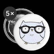 Buttons ~ Large Buttons ~ Nerd Owl Buttons