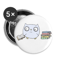 Buttons ~ Large Buttons ~ Reading Owl Buttons
