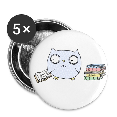 Reading Owl Buttons - Large Buttons