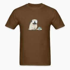 tea time for Mr Pug T-Shirts
