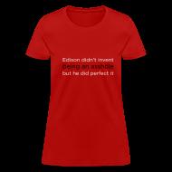 Women's T-Shirts ~ Women's T-Shirt ~ [edisonasshole]