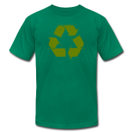 T-Shirts ~ Men's T-Shirt by American Apparel ~ Recycle Logo Design