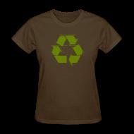 Women's T-Shirts ~ Women's T-Shirt ~ Recycle Logo Design