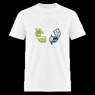 T-Shirts ~ Men's T-Shirt ~ Earth Tone Recycling Tee